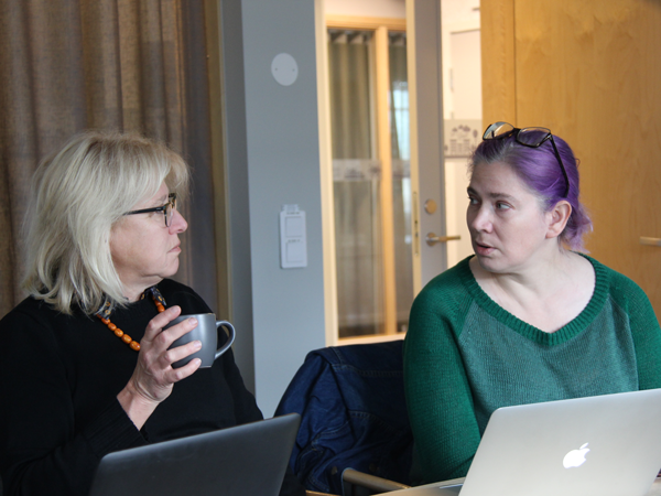 Visual interpretation: Anne-Marie Tillman & Kikki Bauman in discussion over a coffee